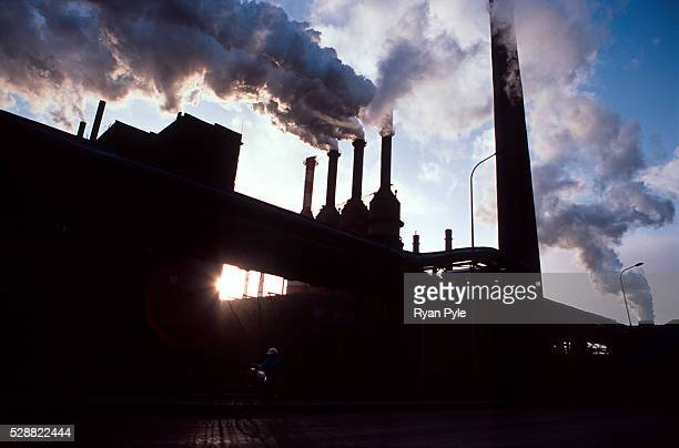 Smoke rises out of the Bao Steel mill in Baotou Inner Mongolia China Baotou is an excellent example of a oneindustry town and that industry is steel...