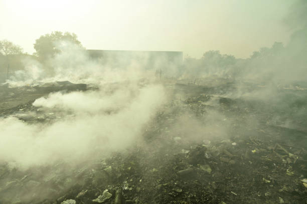 IND: Two Children Dead, Over 150 Shanties Gutted After Massive Fire Breaks Out In Noida