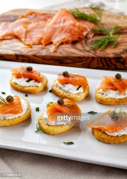 smoke salmon - speckled trout stock photos and pictures