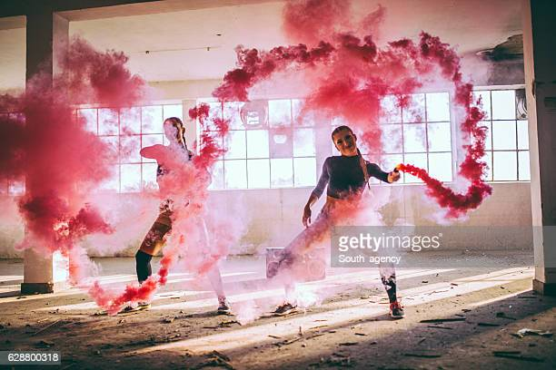 smoke show - modern dancing stock pictures, royalty-free photos & images