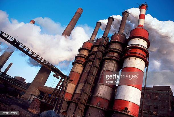 Smoke stacks in the Bao Steel mill in Baotou Inner Mongolia China Baotou is an excellent example of a oneindustry town and that industry is steel...