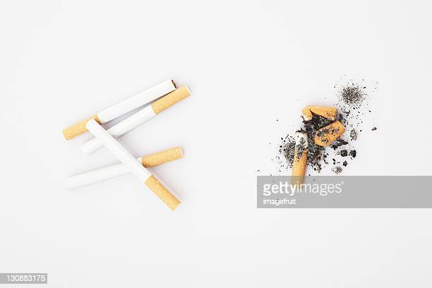 Smoked and unsmoked cigarettes