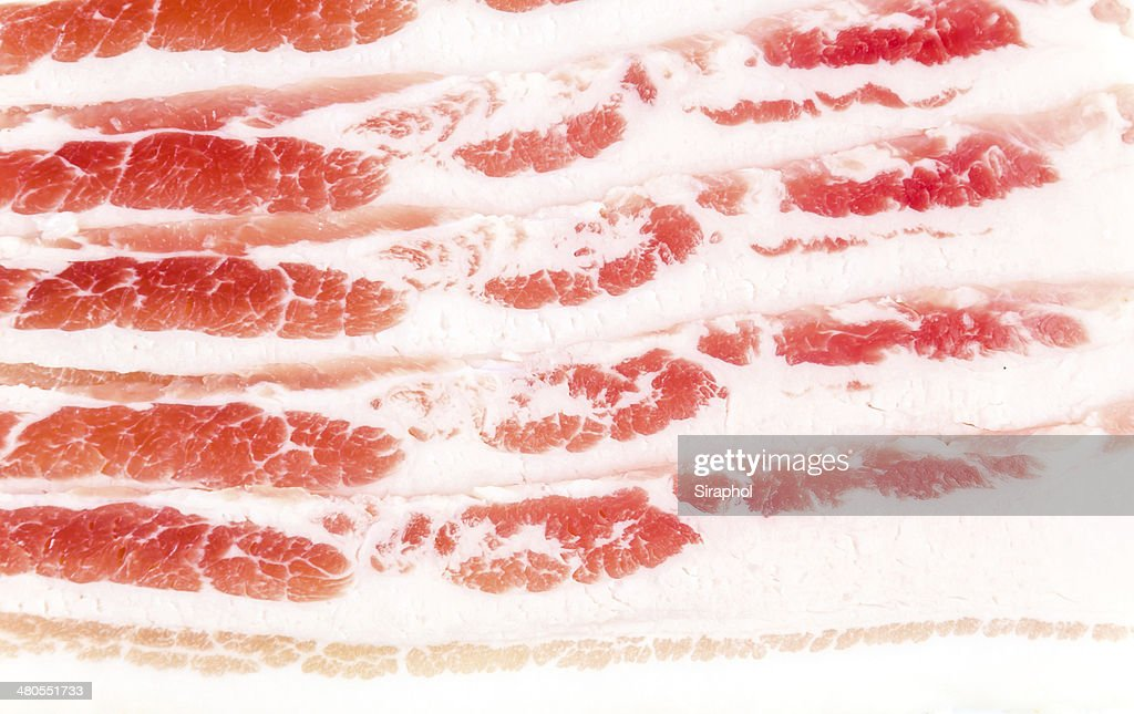bacon fumado : Foto de stock
