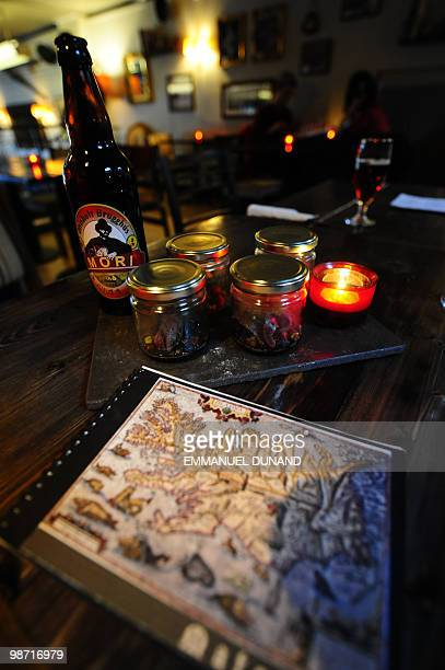 A smoked puffin dish and local beer are on display at Icelandic chef Eythor Halldorsson's Icelandic Bar restaurant in Reykjavik April 23 2010...