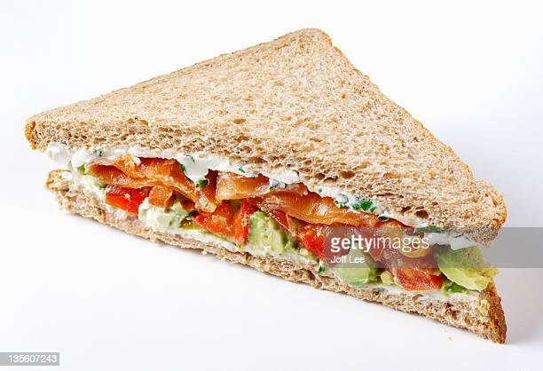 Smoked salmon and avocado sandwich