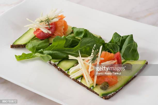 smoked salmon and cucumber
