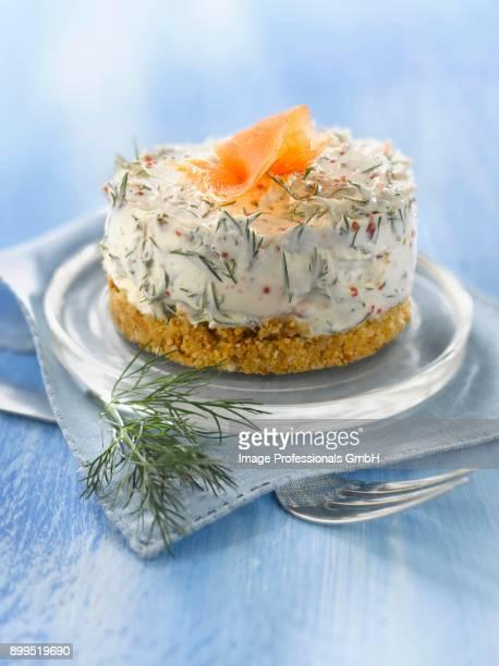 Smoked salmon and dill cheesecake