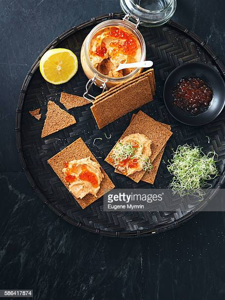 Smoked salmon, mascarpone and tarragon pate