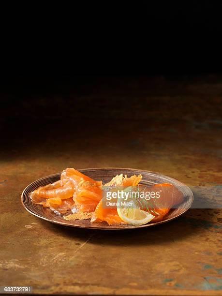 smoked scottish salmon and trout selection - salmone affumicato foto e immagini stock