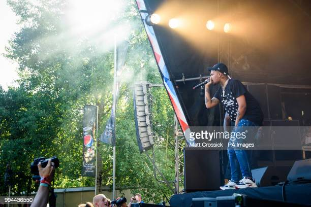 Smokepurpp performing on the third day of the Wireless Festival in Finsbury Park north London PRESS ASSOCIATION Photo Picture date Sunday July 8th...