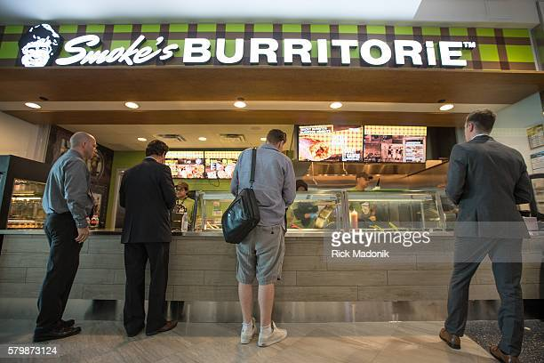 Smoke's Burritorie another of the new stores at the airport A new 50000 square foot retail space at Terminal 3 of Pearson International Airport was...