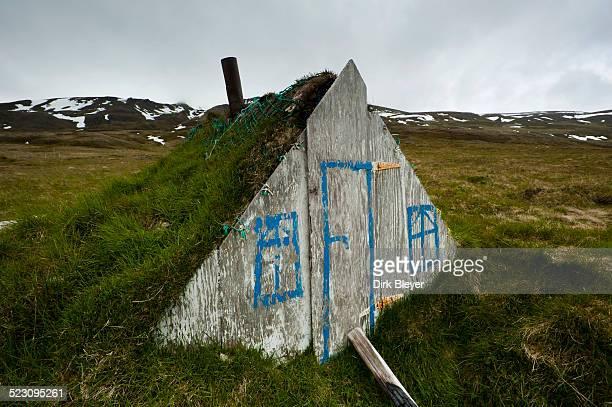 smokeshack, austurland, eastern iceland, iceland, europe - austurland stock-fotos und bilder
