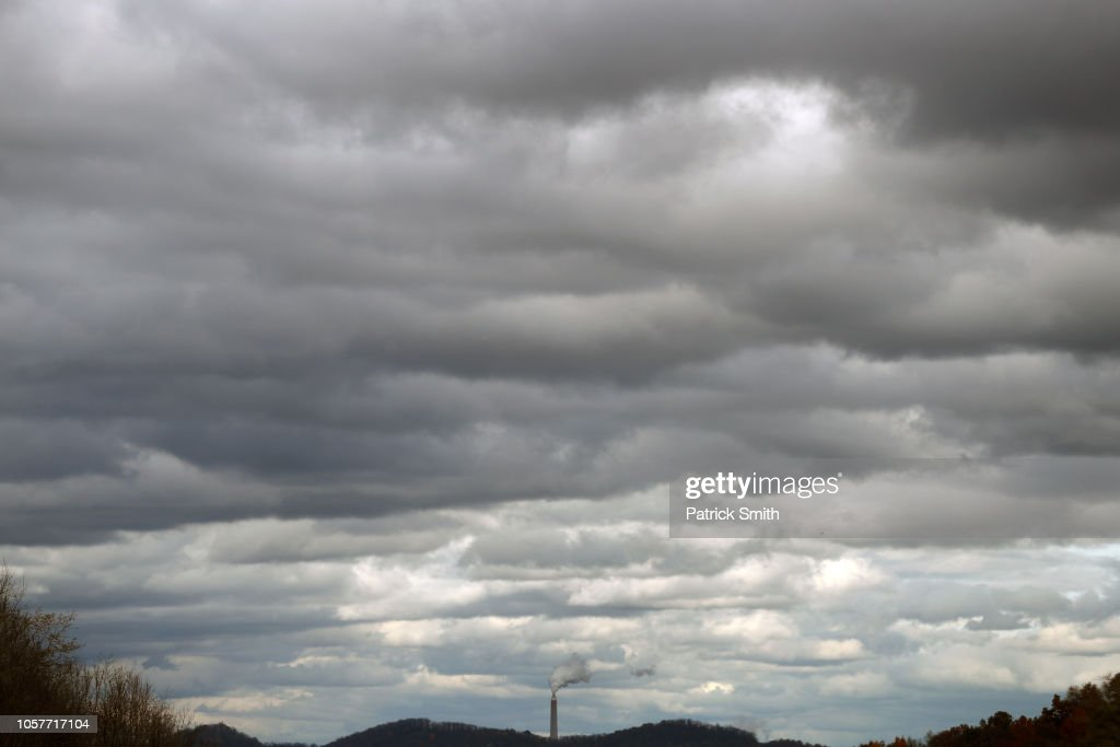 A smokestack is seen on November 5, 2018 in Morgantown, West