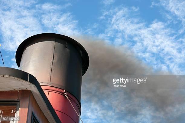 Smokestack of classic ferry