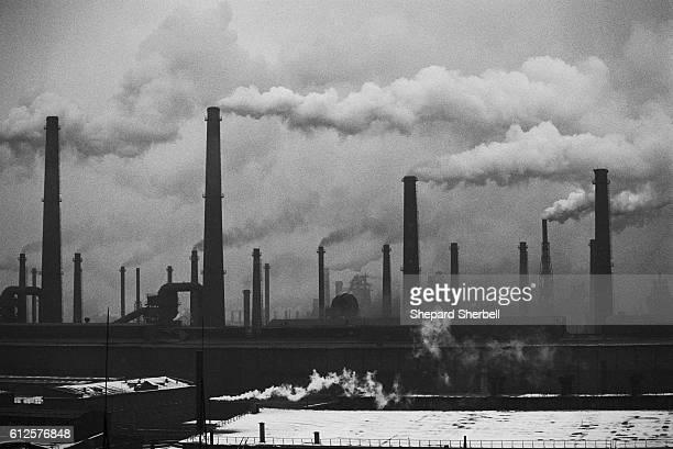 Smokestacks at a Steelmill