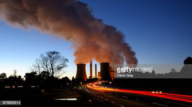 Smokestacks of Loy Yang Power Station, Traralgon, Victoria, Australia
