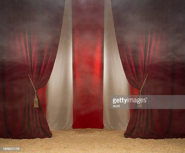 smokey circus tent - circus stock pictures, royalty-free photos & images