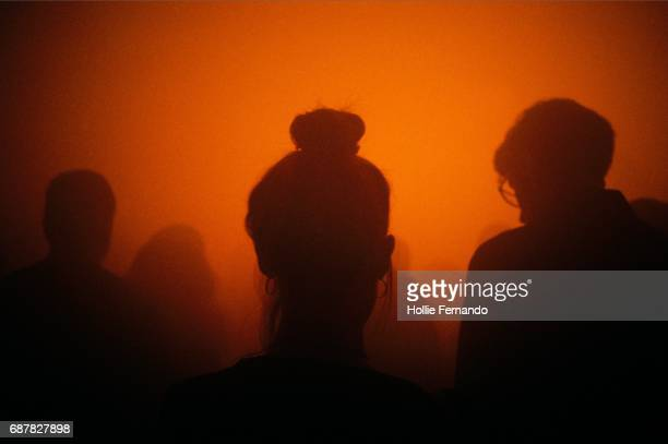 smokey gig silhouettes - in silhouette stock pictures, royalty-free photos & images