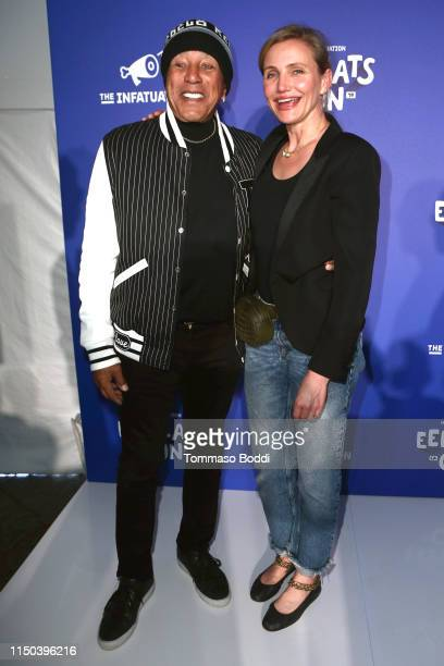 Smokey Robinson and Cameron Diaz attend the EEEEEatscon 2019 at Barker Hangar on May 19, 2019 in Santa Monica, California.