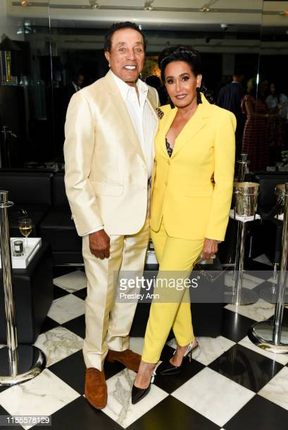 Smokey Robinson and Frances Glandney attend Ira and Bill DeWitt's Saint candle launch benefiting St Jude Children's Research Hospital at MR CHOW on...