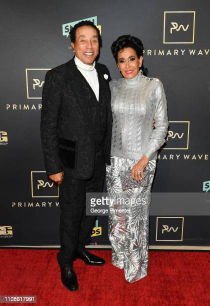 Smokey Robinson and Frances Glandney attend the 13th Annual PreGRAMMY Bash held at The London West Hollywood on February 09 2019 in West Hollywood...