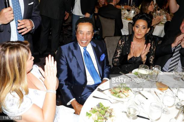 Smokey Robinson and Frances Glandney attend the 19th Annual Harold and Carole Pump Foundation Gala at The Beverly Hilton Hotel on August 09 2019 in...