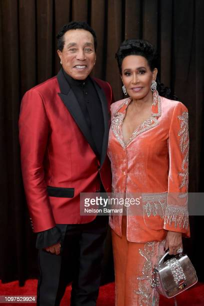 Smokey Robinson and Frances Glandney attend the 61st Annual GRAMMY Awards at Staples Center on February 10 2019 in Los Angeles California