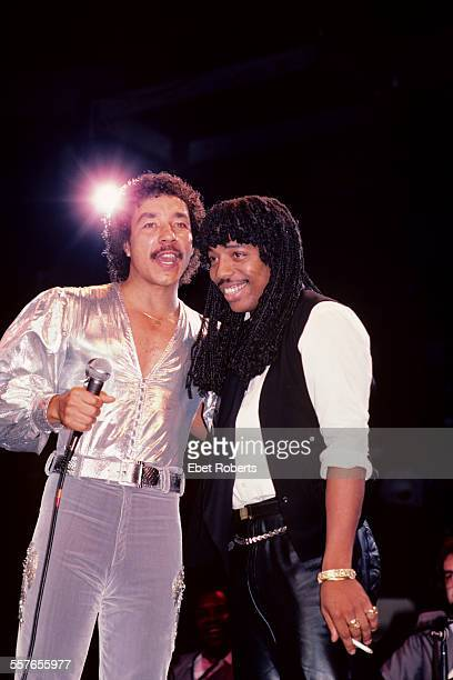 Smokey Robinson and Rick James at Madison Square Garden in New York City on September 11 1982