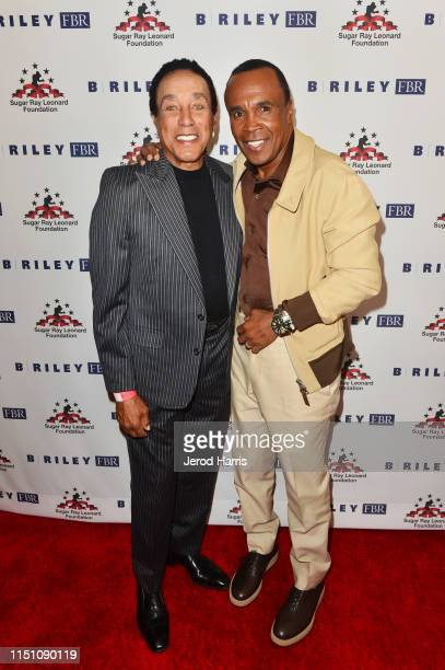 Smokey Robinson and Sugar Ray Leonard attend Sugar Ray Leonard Foundation's 10th Annual 'Big Fighters Big Cause' Charity Boxing Night Presented by B...