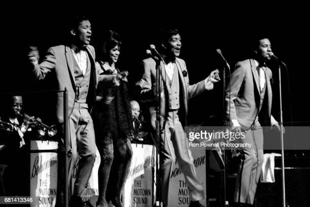Smokey Robinson and the Miracles perform at Evanston High School in Evanston Illinois September 1968