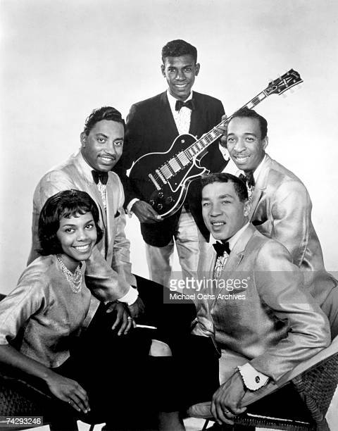 Smokey Robinson and The Miracles pose for a portrait circa 1962 in Detroit Michigan