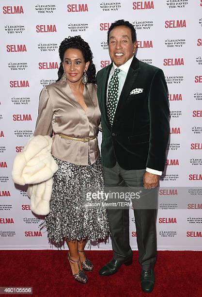 Smokey Robinson and wife Frances Robinson attend the 'Selma' and the Legends Who Paved the Way gala at Bacara Resort on December 6 2014 in Goleta...