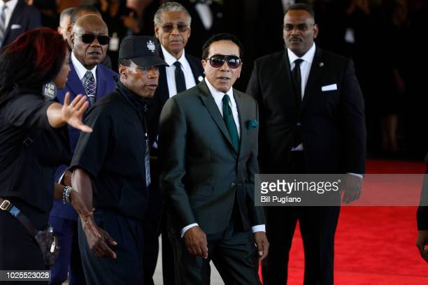 Smokey Robinson arrives at Greater Grace Temple to attend soul music icon Aretha Franklin's funeral on August 31 2018 in Detroit Michigan Dozens of...