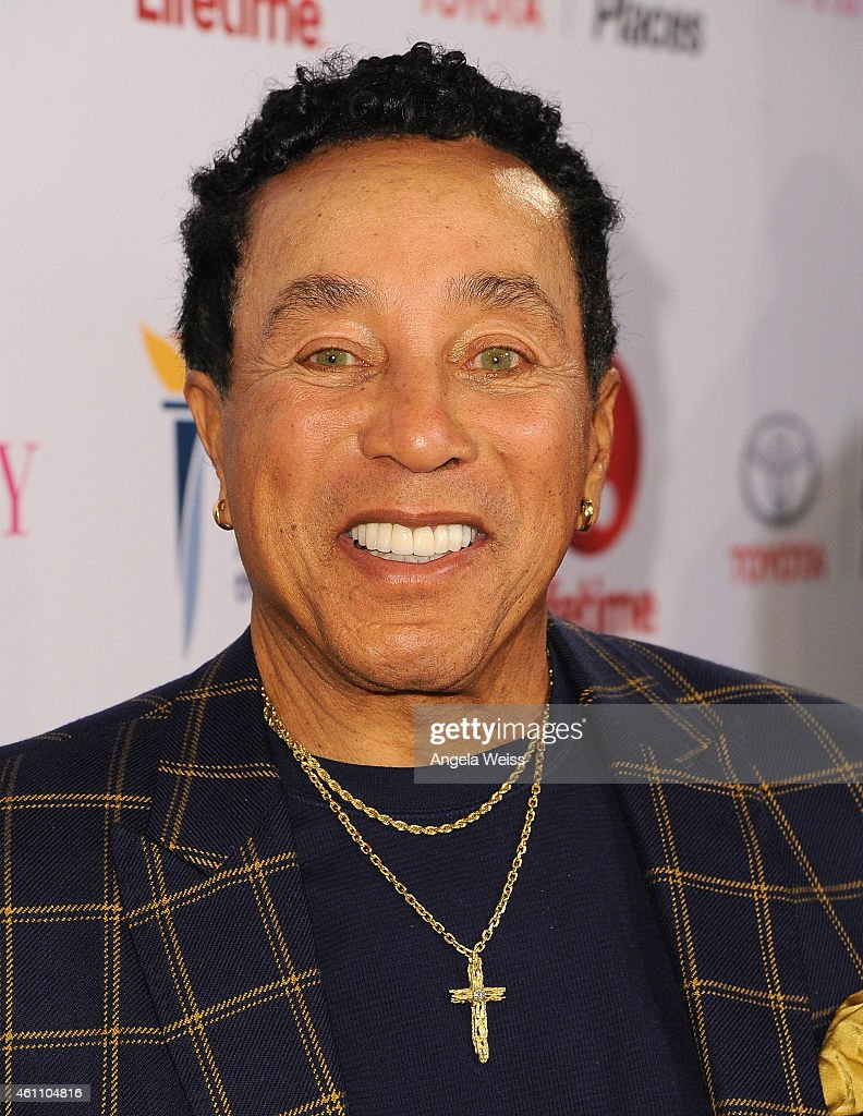 Smokey Robinson arrives at the premiere of Lifetime's 'Whitney' at The Paley Center for Media on January 6, 2015 in Beverly Hills, California.