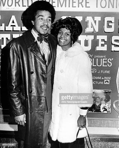 Smokey Robinson at the premiere of the film Lady Sings the Blues a biopic about Billie Holiday in 1972 October 12 1972