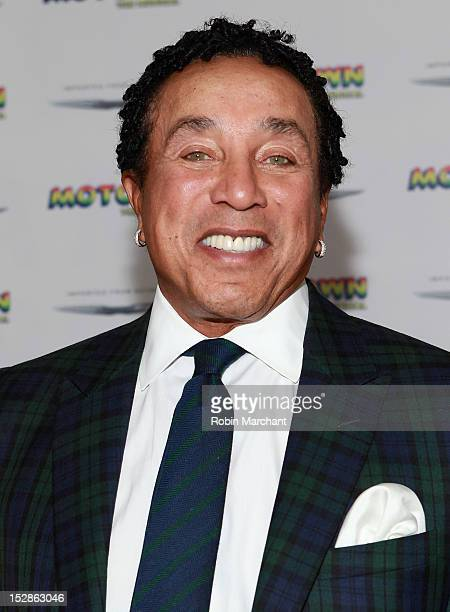 Smokey Robinson attends Motown The Musical Broadway Spring Launch Event at Nederlander Theatre on September 27 2012 in New York City