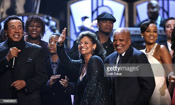 Smokey Robinson, Debbie Allen, Berry Gordy and LisaRaye McCoy celebrate at the 29th Annual Evening of Stars honoring Smokey Robinson presented by the...