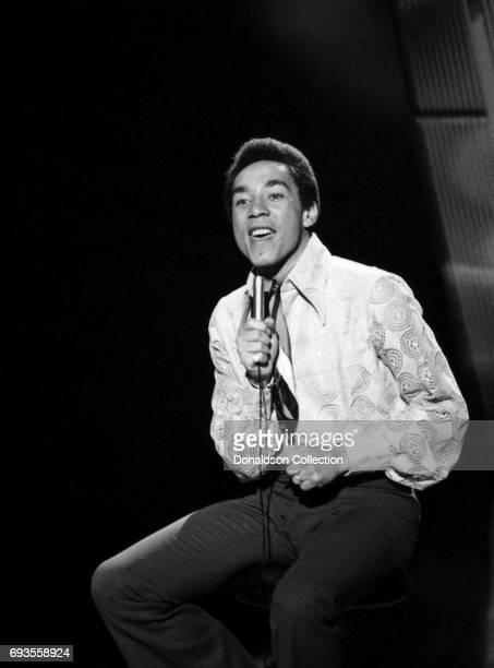 Smokey Robinson of Smokey Robinson and the Miracles performs on This Is Tom Jones TV show in circa 1970 in Los Angeles California
