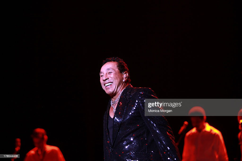 Smokey Robinson performs at Freedom Hill Amphitheater on August 29, 2013 in Sterling Heights, Michigan.