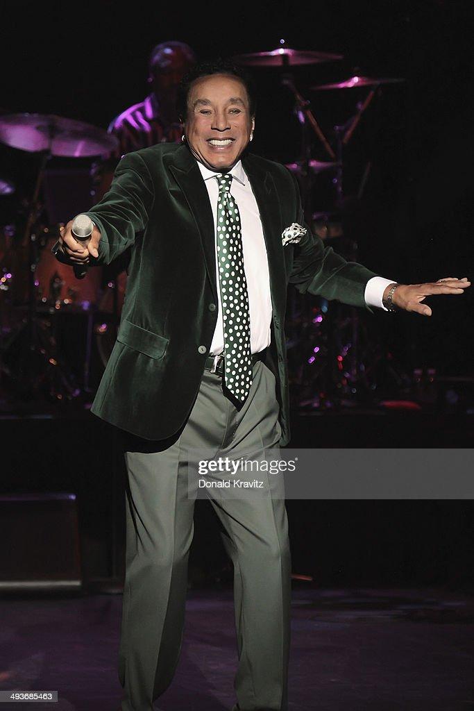 Smokey Robinson performs at Harrah's Resort on May 24, 2014 in Atlantic City, New Jersey.