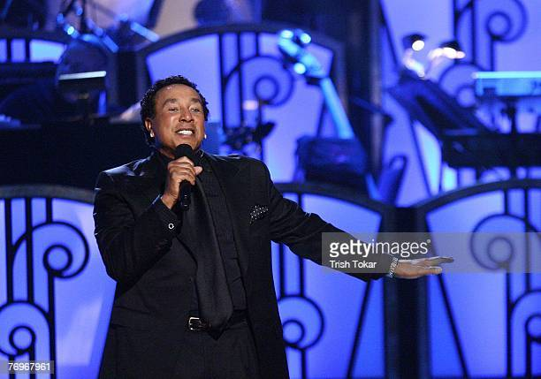 Smokey Robinson performs at the 29th Annual Evening of Stars presented by the United Negro College Fund where he was honored and received the Award...