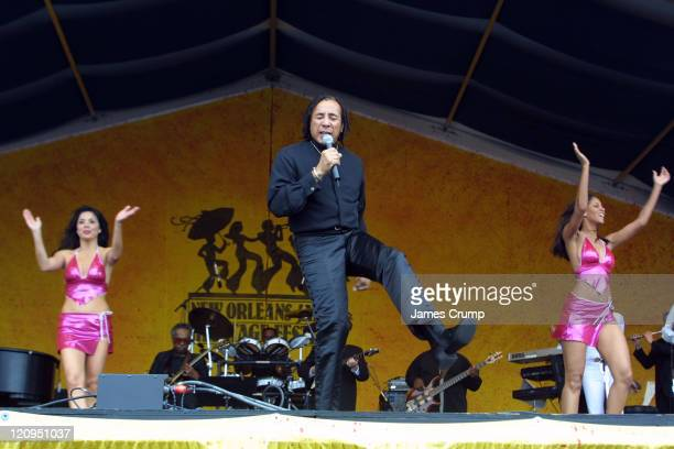 Smokey Robinson performs on the final day of the 35th Anniversary of the New Orleans Jazz and Heritage Festival