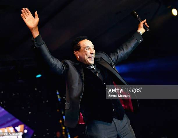 Smokey Robinson performs onstage at Celebrity Fight Night XXIV on March 10 2018 in Phoenix Arizona