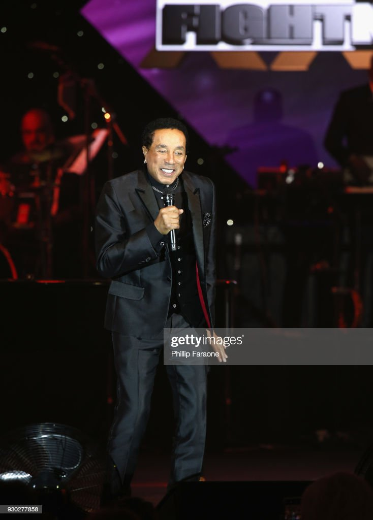 Smokey Robinson performs onstage at Celebrity Fight Night XXIV on March 10, 2018 in Phoenix, Arizona.