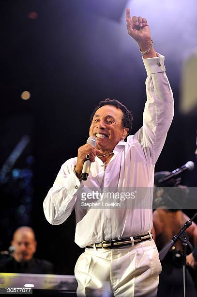 Smokey Robinson performs onstage at the 10th Annual Elton John AIDS Foundation's An Enduring Vision benefit at Cipriani Wall Street on October 26...