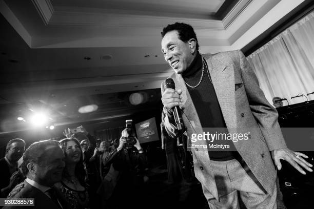 Smokey Robinson performs onstage at the Celebrity Fight Night's Founders Club Dinner on March 9, 2018 in Phoenix, Arizona.