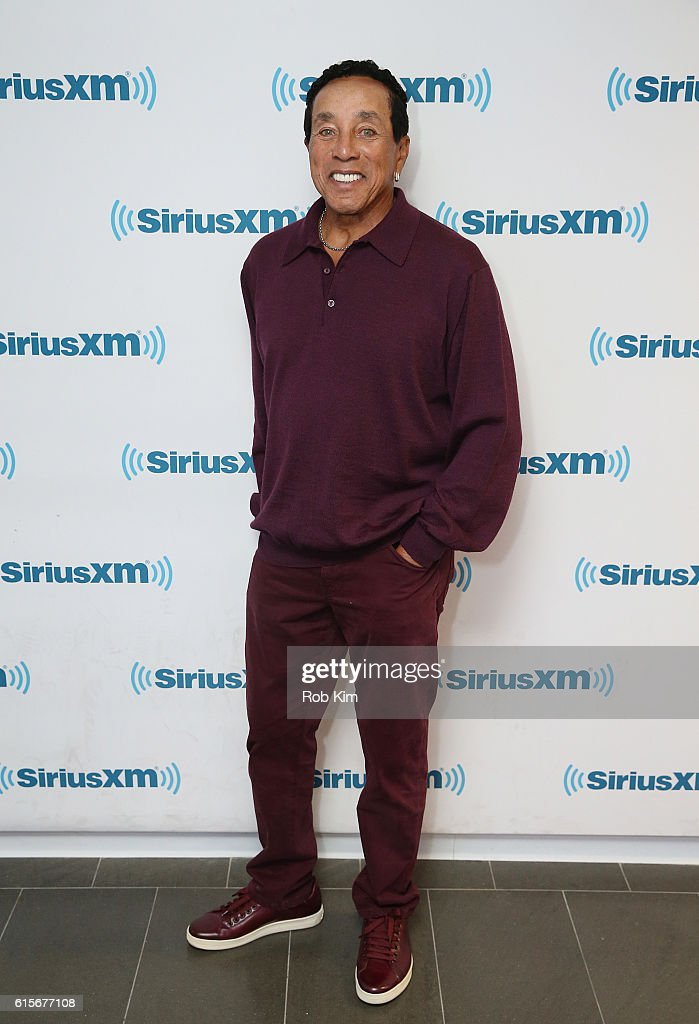 Smokey Robinson visits at SiriusXM Studio on October 19, 2016 in New York City.