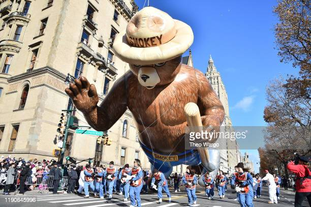 Smokey the Bear at the 93rd Annual Macy's Thanksgiving Day Parade on November 28 2019 in New York City
