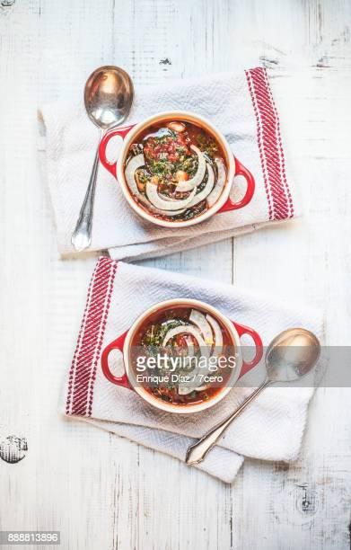 Smokey Tomato and Tuscan Kale Soup Pots for Two