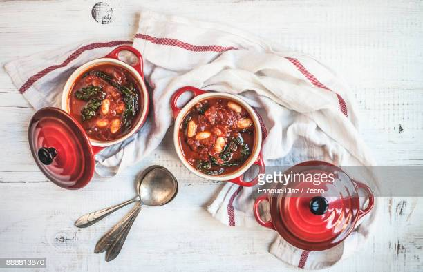 Smokey Tomato and Tuscan Kale Soup Pots